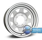 DOTZ 4X4 STAHLRADER Dakar R15 / 6.0J PCD 6x139.7 ET 6.0 ЦО 110.0 Стальной / Серебристый