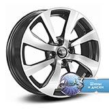 Колёсный диск КиК ZV Sandero Stepway КС893 R16 / 6.0J PCD 4x100.0 ET 37.00 ЦО 60.10 Литой / Черный с полированной лицевой поверхностью