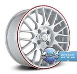 Колёсный диск NZ SH668 R15 / 6.0J PCD 5x105.0 ET 39.00 ЦО 56.60 Литой / Белый с красным ободом